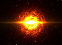 Big Boom in Deep Space stock photography