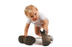 Big boots Royalty Free Stock Photography
