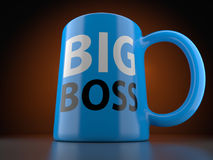 Big Boss Blue Cup Stock Photo
