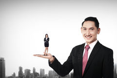 Big Boss Holding Woman Stock Images