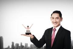 Big Boss Holding Woman Stock Photography