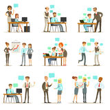 Big Boss Managing And Supervising The Work Of Office Employees Set Of Top Manager And Workers Illustrations Royalty Free Stock Photo
