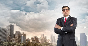 He is big boss . Mixed media Stock Images