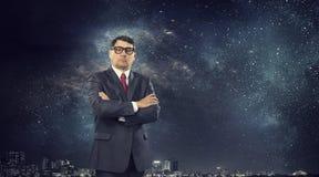 He is big boss . Mixed media Royalty Free Stock Photos