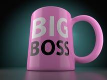 Big Boss Pink Cup Royalty Free Stock Photos