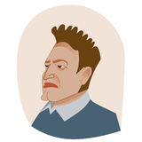 Big boss unhappy avatar portrait Royalty Free Stock Images