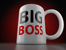 Big Boss White Cup Stock Photos