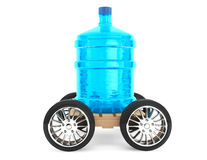 Big bottle of drinking water with wheels Royalty Free Stock Images