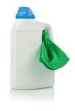Big bottle and green napkin Stock Photos