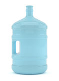 Big bottle of water isolated on a white background. 3D illustration Royalty Free Stock Photo
