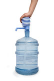 Big bottle of water with pump isolated Stock Photography