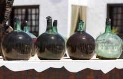 A big bottles with grape wine - malvasia.  Lanzarote,. Spain Stock Photo