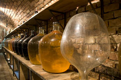 Big  bottles of high quality wine Stock Images