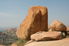 Big boulder hampi india Stock Images