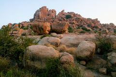 Big boulders in hampi. India royalty free stock images