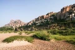 Big boulders landscape in hampi Stock Photos