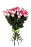 Big bouquet of pink roses. It is isolated on a white background Royalty Free Stock Photography