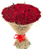Big bouquet of red roses Stock Photo