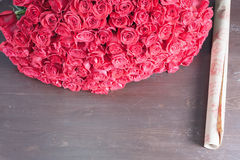 Big bouquet of red roses Royalty Free Stock Image