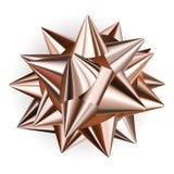 Big bow of shiny ribbon Royalty Free Stock Photography