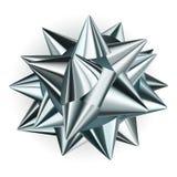 Big bow of shiny ribbon Stock Images