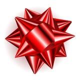 Big bow of shiny ribbon Royalty Free Stock Image