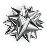 Big bow of shiny ribbon Stock Photography