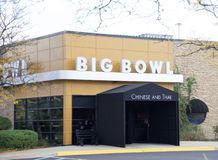 Big Bowl Chinese and Thai Restaurant. Big Bowl is the place for authentic Thai and Chinese food. Big Bowl restaurants are located in Chicago, IL, Schaumburg, IL royalty free stock photo