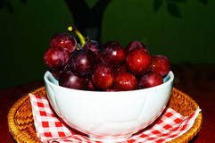 A big bowl filled with red berries Stock Images