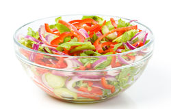 A big bowl with fresh salad Royalty Free Stock Image