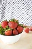 Big bowl of fresh strawberry Royalty Free Stock Image