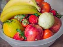 Big bowl of fruits Royalty Free Stock Photography