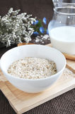 Big bowl of oatmeal Royalty Free Stock Image