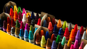 Big box of crayons Stock Image