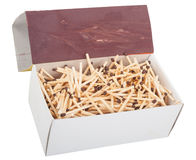 Big box of matches Stock Image
