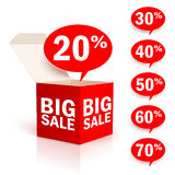 Big box sale Stock Photography