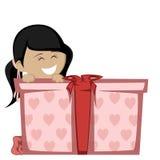 Big box surprise Stock Image