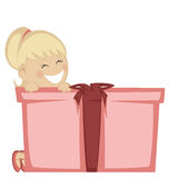 Big box surprise Royalty Free Stock Images
