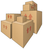 Big boxes Stock Images