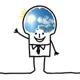 Big Brain Man - blue sky and optimism Stock Image
