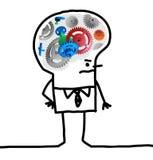 Big Brain Man - gear and concept Stock Photos