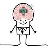 Big Brain Man - technologic human Stock Photos