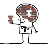 Big Brain Man - wall and puzzle stock images