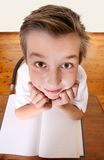 Big Brain School boy stock photo