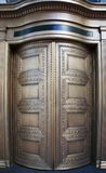 Big Brass Revolving Bank Doors up close Stock Photos