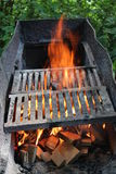 Big brazier with burning fire Stock Photos