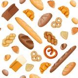 Big bread icons set seamless pattern. vector illustration