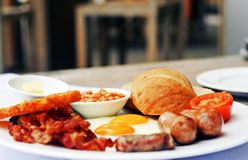 Big Breakfast of Champions. Image of a big hearty breakfast Stock Photography