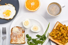 Big breakfast composition Royalty Free Stock Photos