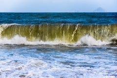 Big breaking ocean wave stock photo